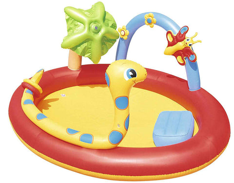 inflatable kiddie pool splash and play