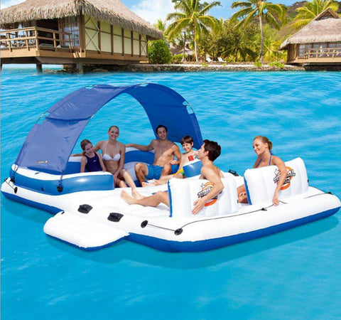 inflatable pool island coolerz