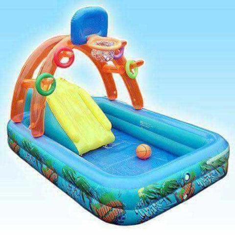 inflatable pool with slide