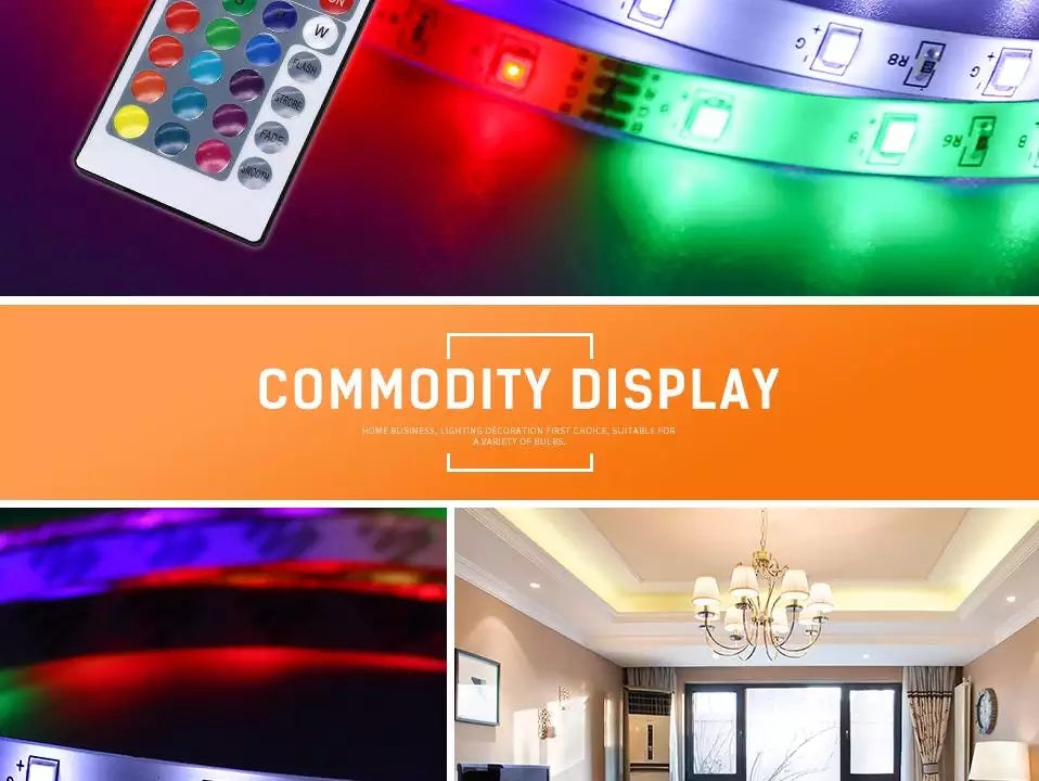 Wireless Remote Controlled RGB LED Light Strips