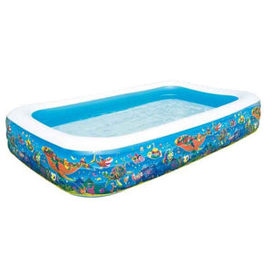 "Inflatable Play Pool (2.29m x 1.52m x 56cm / 7.5' x 60"" x 22"") - 54120"