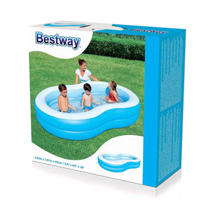 "Inflatable Double Ring Lagoon Pool (2.62m x 1.57m x 46cm / 8.6' x 62"" x 18"") - 54117"