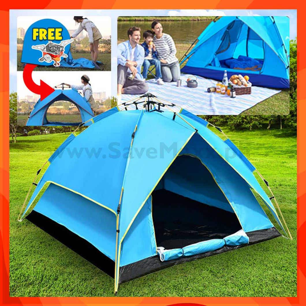 Heavy Duty Automatic Camping Tent (with Free Camping Stove) - R00119