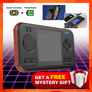 2 in 1 Handheld Gameboy Powerbank (8000mAh) with FREE Mystery Gift