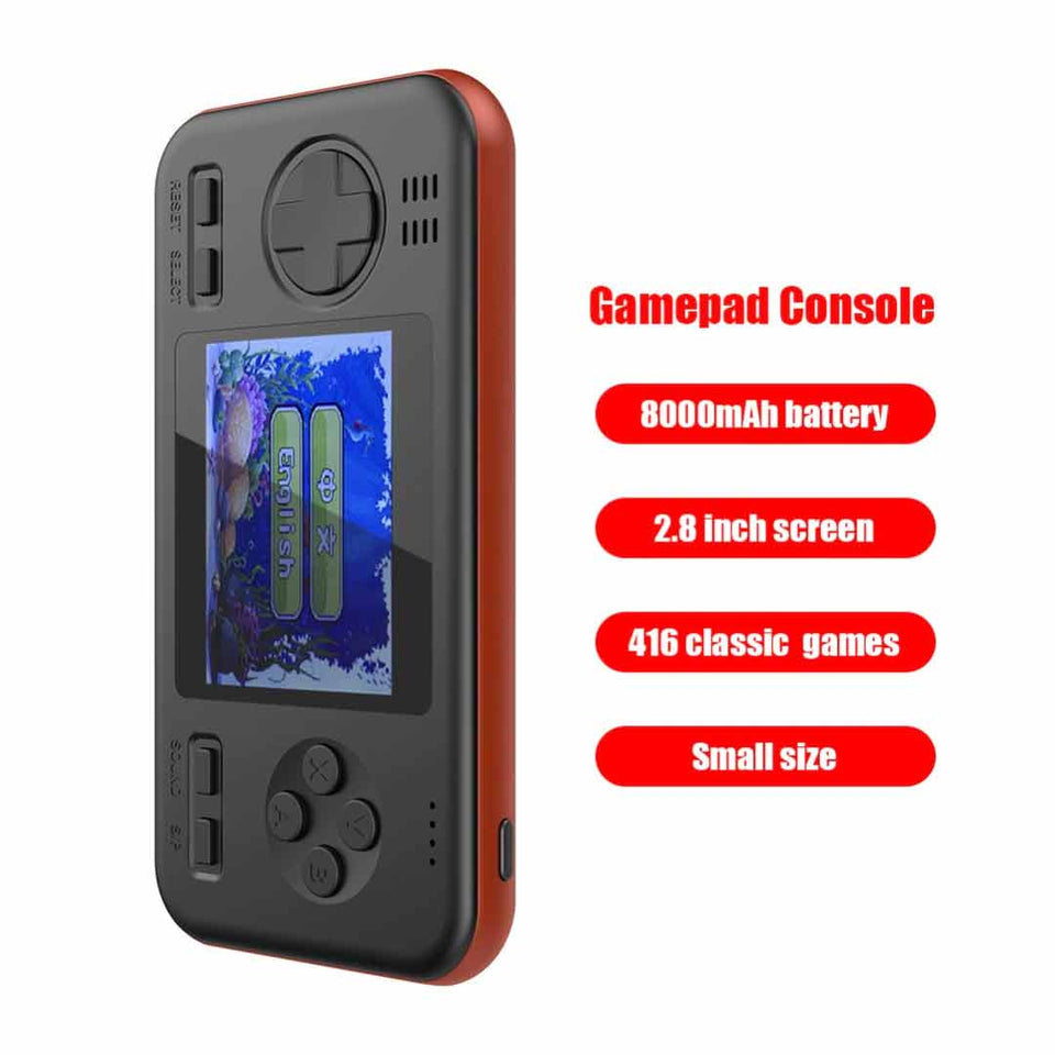 2 in 1 Handheld Gameboy Powerbank (8000mAh)