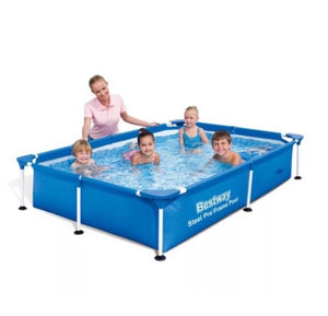 "Rectangular Folding Pool (2.21m x 1.50m x 43cm / 7'3"" x 59"" x 17"") - 56401"