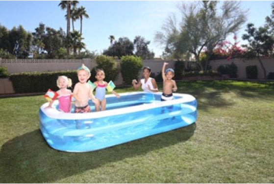 "Inflatable Home Pool (2.62m x 1.75m x 51cm / 8.6 x 69"" x 20"") 54006"