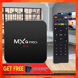 Advance MXQ Pro 4K Android TV Box (with Free Portable Bluetooth Karaoke Speaker)