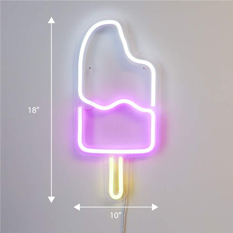 LED Neon Popsicle Sign