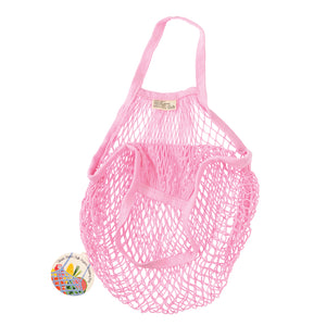 Rex London Baby Pink Organic Cotton Net Bag