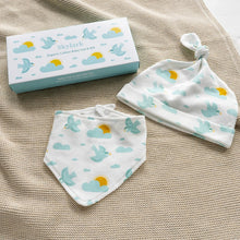 Load image into Gallery viewer, Rex London Skylark Organic Cotton Hat And Bib Set
