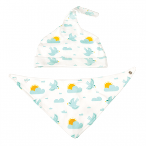 Rex London Skylark Organic Cotton Hat And Bib Set