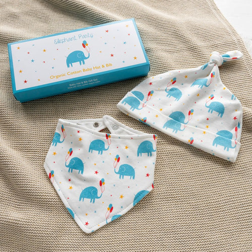 Copy of Rex London Elephant Part Cotton Babies Hat And Bib Set