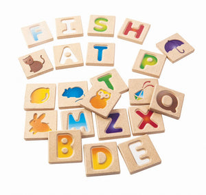 PlanToys Alphabet Gradient Tile Set