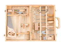 Load image into Gallery viewer, Moulin Roty Grande valise bricolage 14 outils