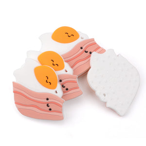Loulou Lollipop Bacon And Egg Teether Set