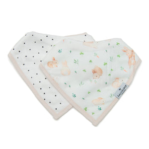 Loulou Lollipop Bandana Bib Set - Bunny Meadow
