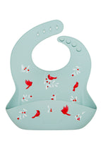 Load image into Gallery viewer, Loulou Lollipop Silicone Bib Printed - Cardinal