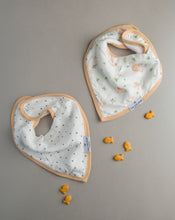 Load image into Gallery viewer, Loulou Lollipop Bandana Bib Set - Bunny Meadow
