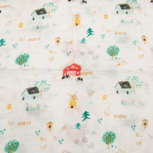 Loulou Lollipop Swaddle - Farm Animals