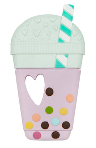 Loulou Lollipop - Silicone Teether Single - Taro Bubble Tea