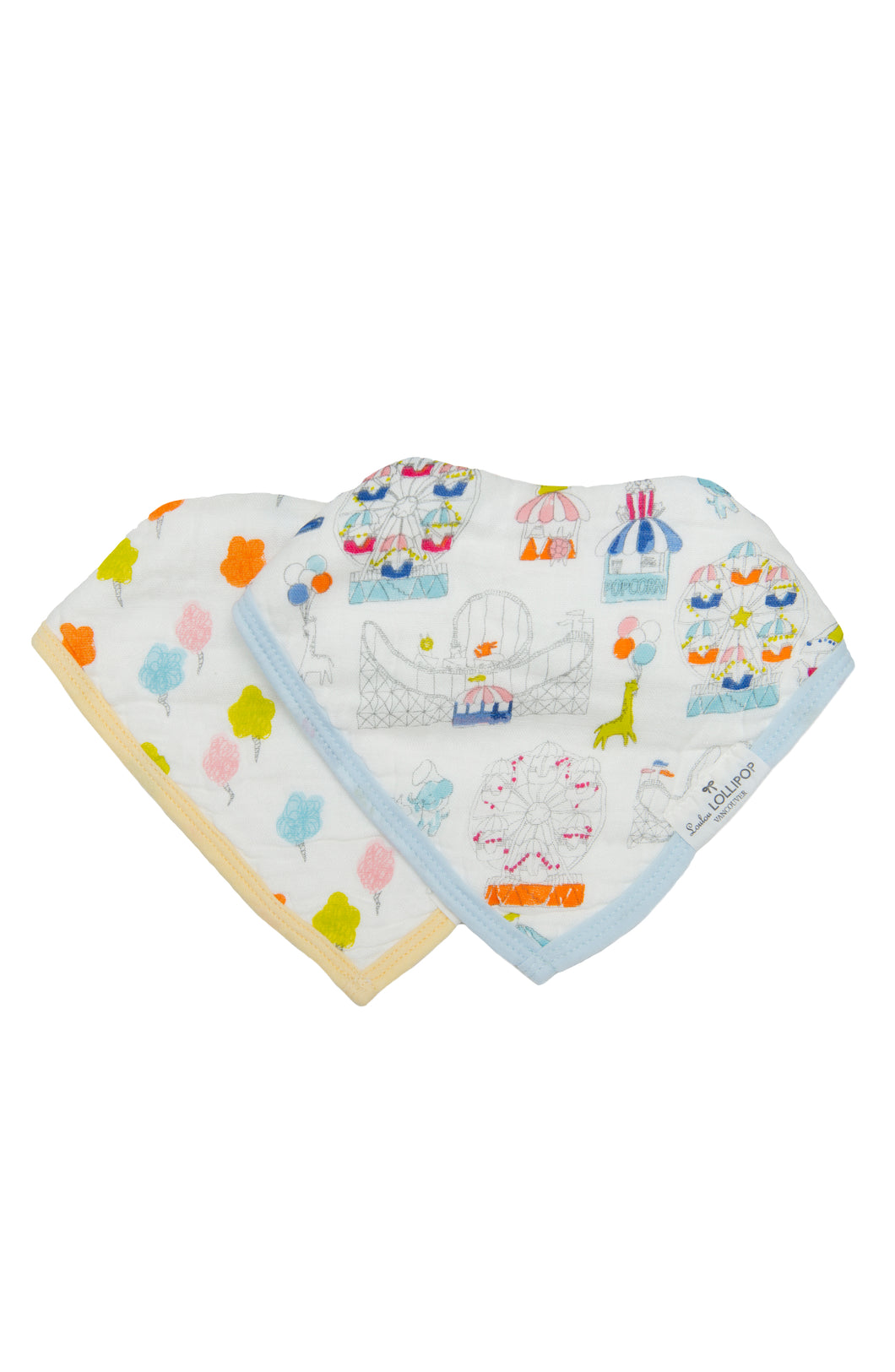 Loulou Lollipop Bandana Bib Set - Carnival Fun