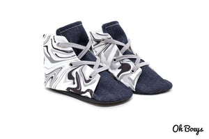 Oh Boeys Marble Denim Lace Up Shoes