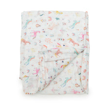 Load image into Gallery viewer, Loulou Lollipop Swaddle - Unicorn Dream