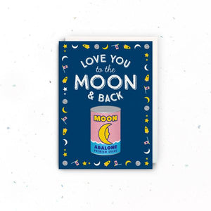 The Little Drom Store Drom Card - Moon & Back