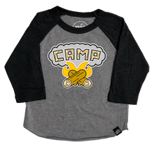 Load image into Gallery viewer, Whistle & Flute Camp Fire Baseball T-Shirt