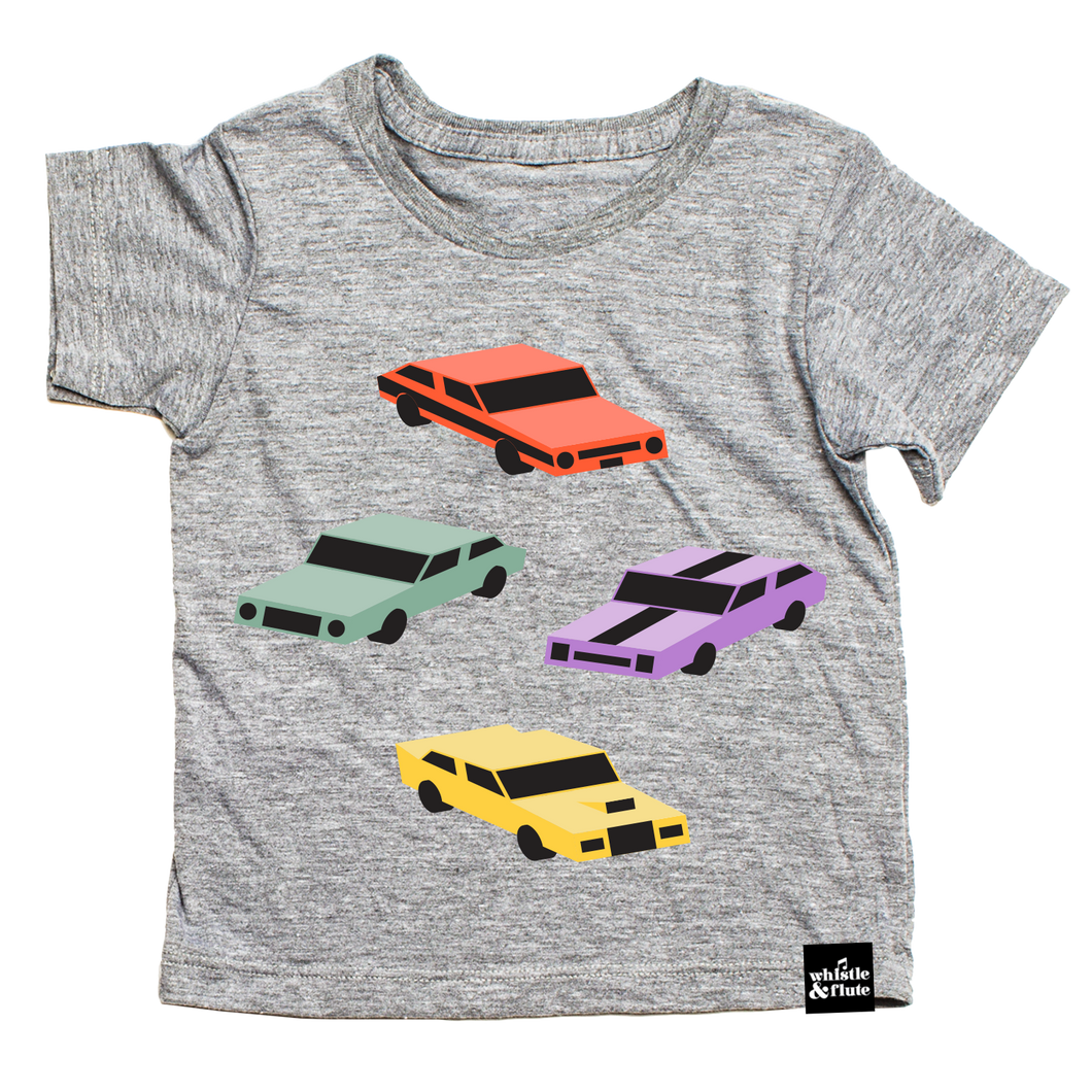 Whistle & Flute Kawaii Cool Cars T-Shirt