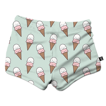 Load image into Gallery viewer, Whistle & Flute Kawaii Ice Cream Sprinkles Swim Trunks