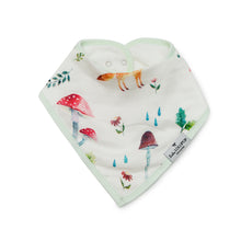 Load image into Gallery viewer, Loulou Lollipop Bandana Bib Set - Woodland Gnome