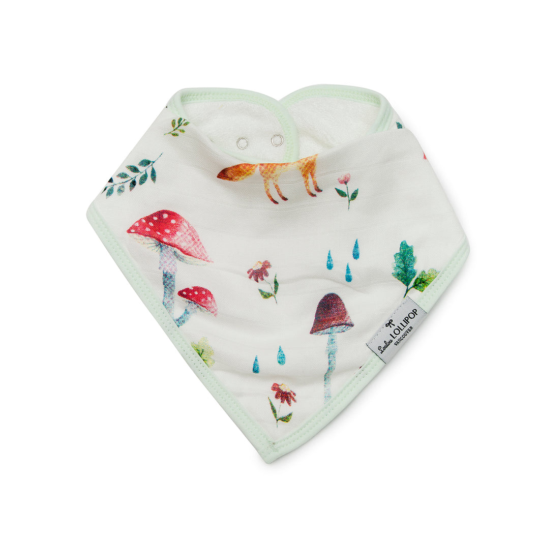 Loulou Lollipop Bandana Bib Set - Woodland Gnome
