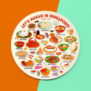 10 INCH PLATE – LET'S MAKAN!