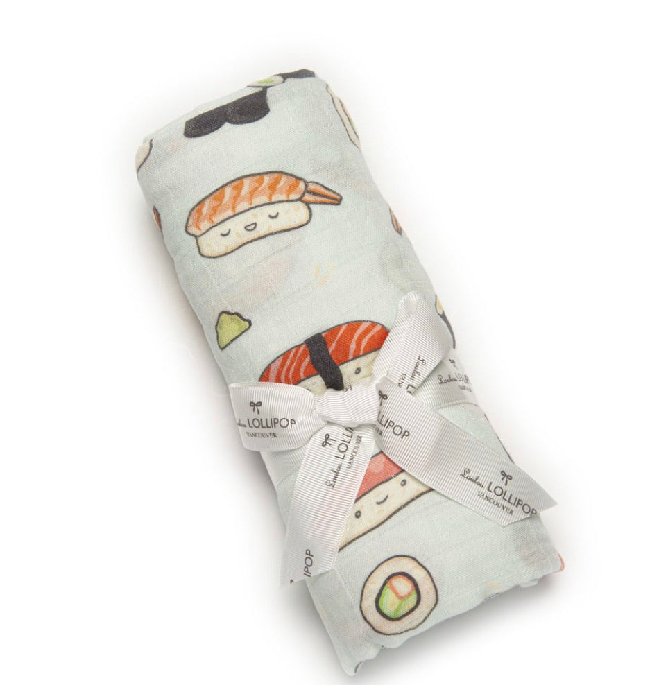 Loulou Lollipop Swaddle- Sushi