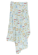 Load image into Gallery viewer, Loulou Lollipop Swaddle - Breakfast (Blue)