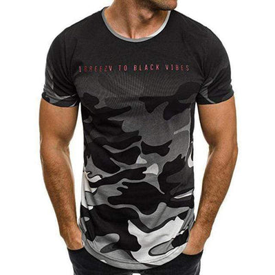 Tee-Shirt De Sport Homme Camouflage | 2 achetés + 1 Offert | Fitostic FITO-ARMY  Gris  FITO-ARMY