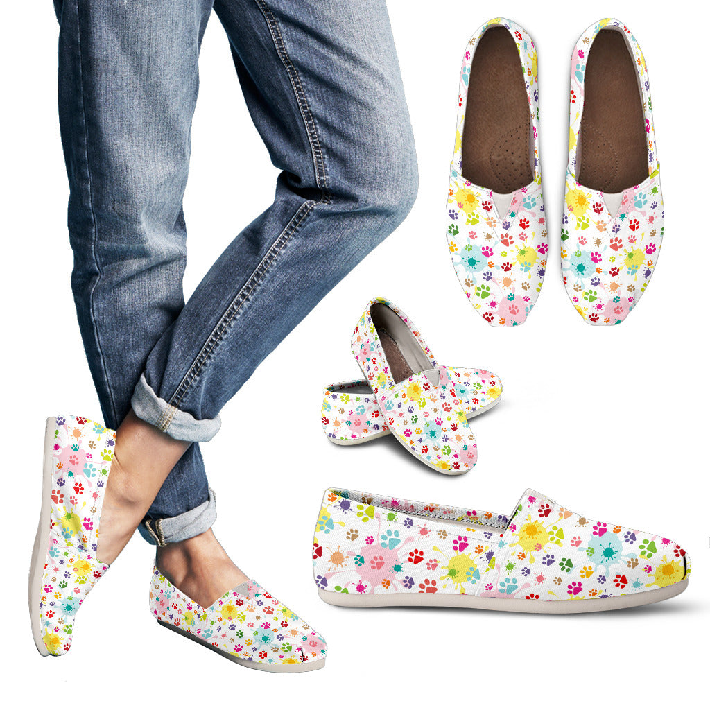 Watercolor Cat Women's Casual Shoes