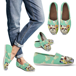 Chilling Dog / Bones teal Women's Casual Shoes