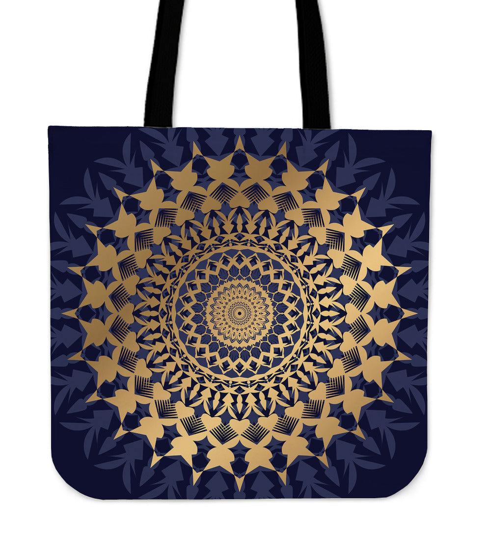 Amazing Blue Mandala Love Cloth Tote Bag