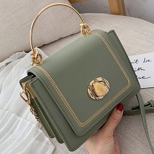 Solid color Leather Mini Crossbody Bags