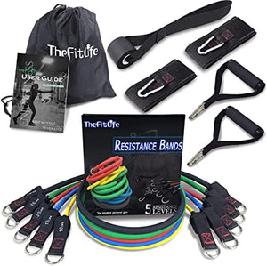TheFitLife Exercise and Resistance Bands Set - Stackable up to 150 lbs