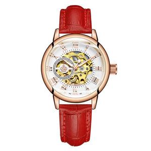 New Fashion Luxury Brand Skeleton Women Mechanical Watch