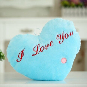 Luminous Pillow HeartCushion Colorful Glowing Pillow Plush Doll Led Light Toys Gift For Girl Kids Christmas Birthday