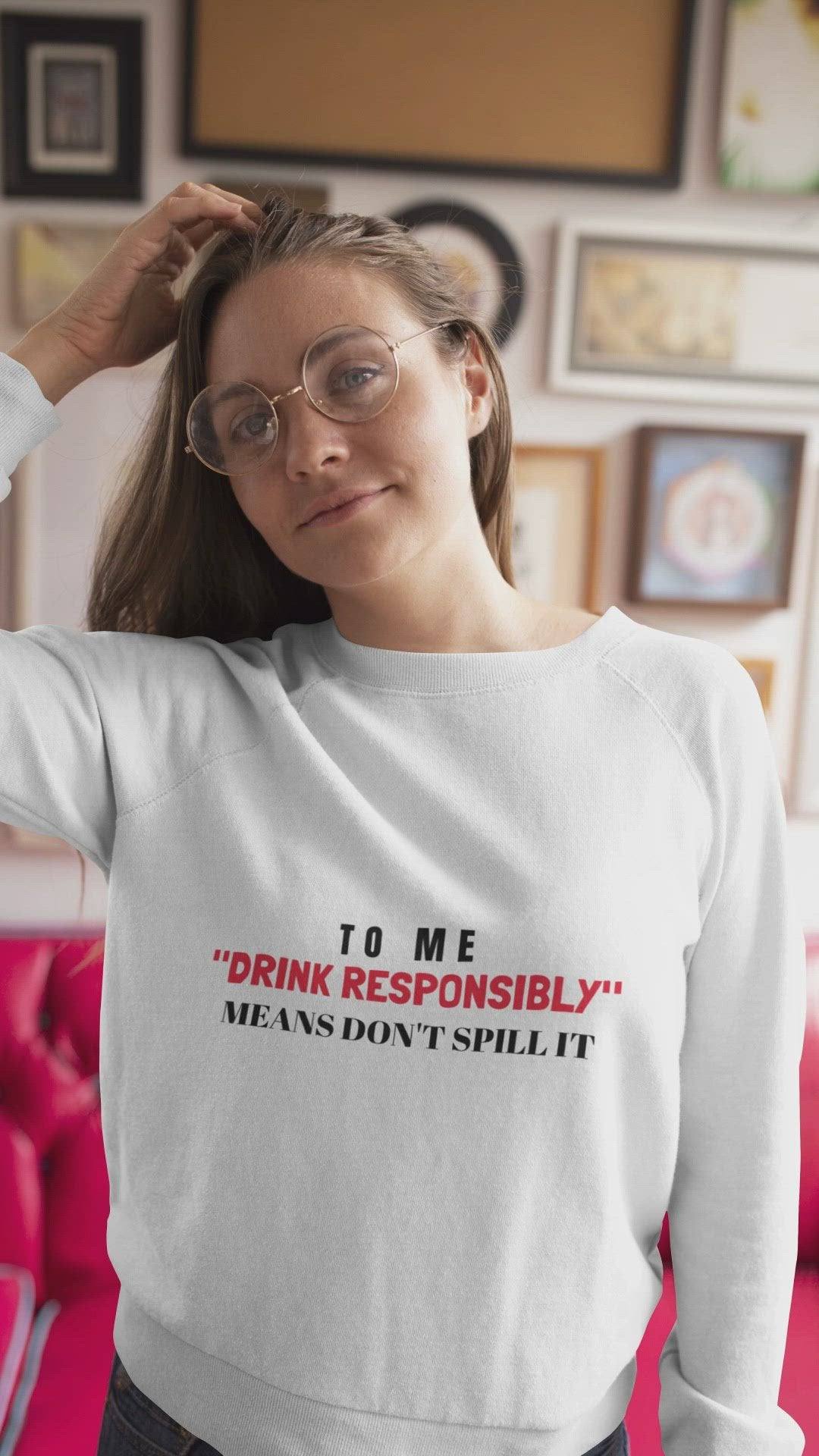 """TO ME DRINK RESPONSIBLY"" MEANS DON'T SPILL IT"" - Unisex Jersey Long Sleeve Tee"