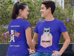 """COOL CAT MEOWSOME"" - Unisex Classic T-Shirt"