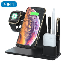 4 in 1 Qi Fast Wireless  Charger Dock Stand