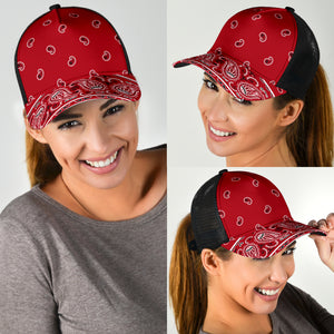 Classic Red Bandana All Over Mesh Back Cap