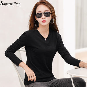 2020 Spring Autumn Ladies Tops Tee Shirt Femme Plus Size 3XL White Black G79